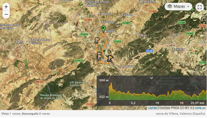 Colonia Santa Eulalia ruta cicloturismo