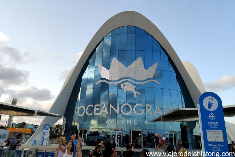 Entrada al Oceanogràfic, Valencia