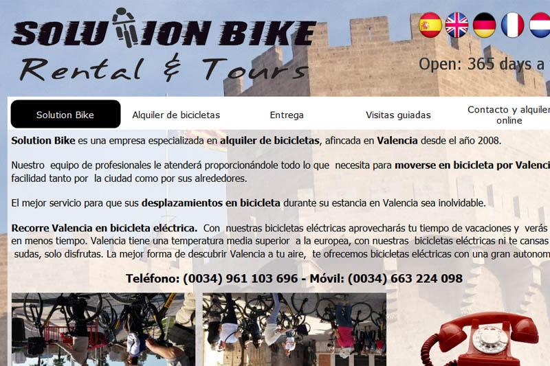 Alquiler bicicletas en Valencia - Solution Bike