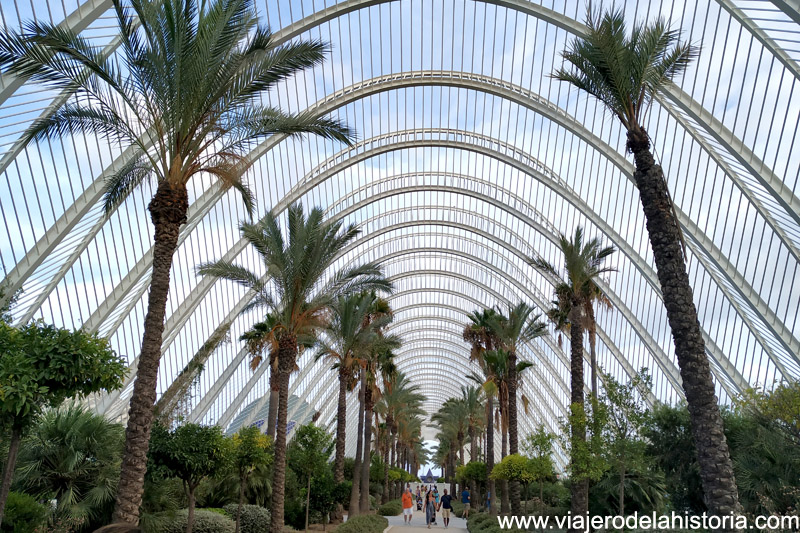 Ciudad de las Artes y las Ciencias: el Umbracle, Valencia
