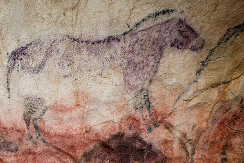 Paleolítico Superior: arte parietal en la Cueva de Tito Bustillo, Asturias