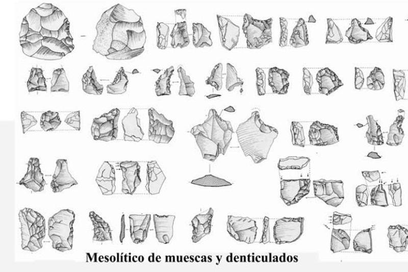 Mesolítico de muescas y denticulados. Yacimiento de Mendandia, Treviño (Burgos)