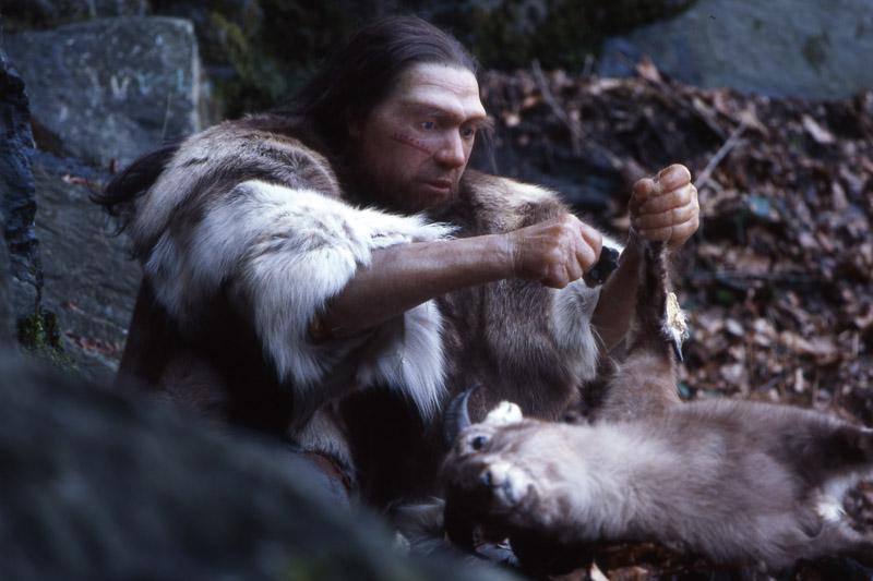 Neanderthal preparando la cena
